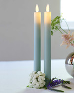 Sara Tall 2-pack Dinner Candles Sky Ø:2 H:25cm movable flame