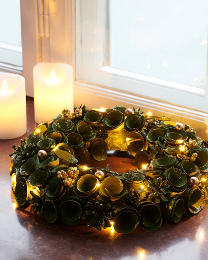 Alice Wreath 35 cm and LED Lights