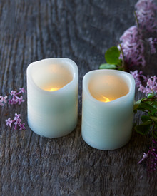 Tenna 2 LED candles H:6,5 cm mint