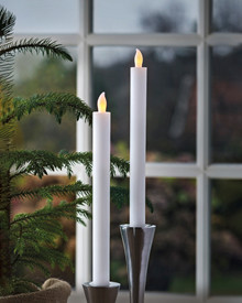 Thea 2 Dinner Candles 25 cm white