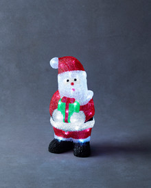 Acrylic Santa 35,5 cm red & white