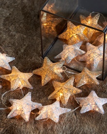 Bolette star 20 LED gold/silver