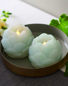 Helene LED 2 Lotus flowers 7 cm mint