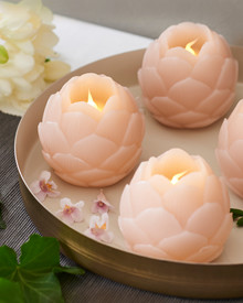 Helene LED 2 Lotus flowers Dia.7 cm blush