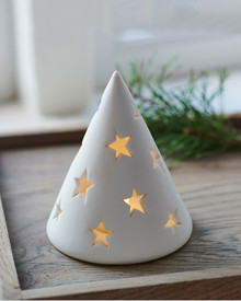 Janet ceramic tree H:11cm mat white