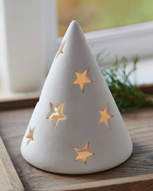 Janet ceramic tree H:14cm mat white