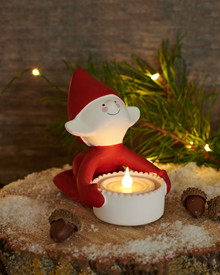 Lucky ceramic Christmas Elf 9,5cm