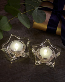 Lea 2-pcs tealights clear stars