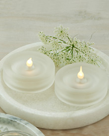Lise 2-pcs tealights frosted