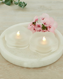 Lotte 2-pcs tealights frosted