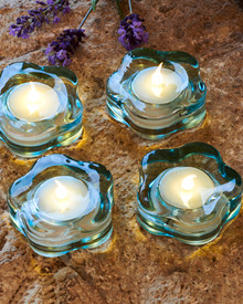 Lotte 4-pcs tealights blue