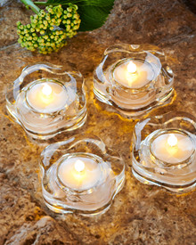 Lotte 4-pcs tealights clear