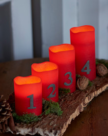 Tenna red Advent Candles 4 pcs set