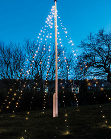 David Flagpole String Light 10x7 meter