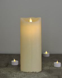 Sara candle almond H:25cm feeling flame