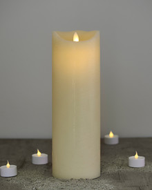 Sara candle almond H:30cm feeling flame