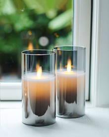 Ivy 2 candles Ø:7,5 H:15 cm moving flame