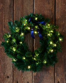 Green Christmas Wreath 45 cm and LED Lighs