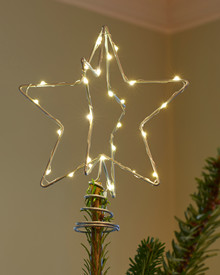 Christmas Tree Top Star 15 cm Silver