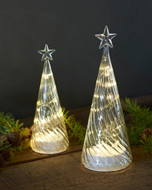 Wave Glass Christmas Tree H:22 cm