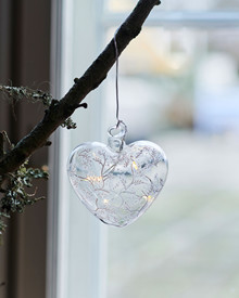 Cozy Heart, glass,  Ø 8cm