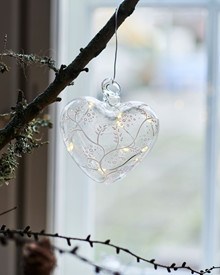 Cozy Heart, glass Ø 10cm