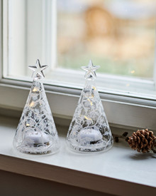 Cozy Tree, glass, H11,5 cm, 2 pcs set