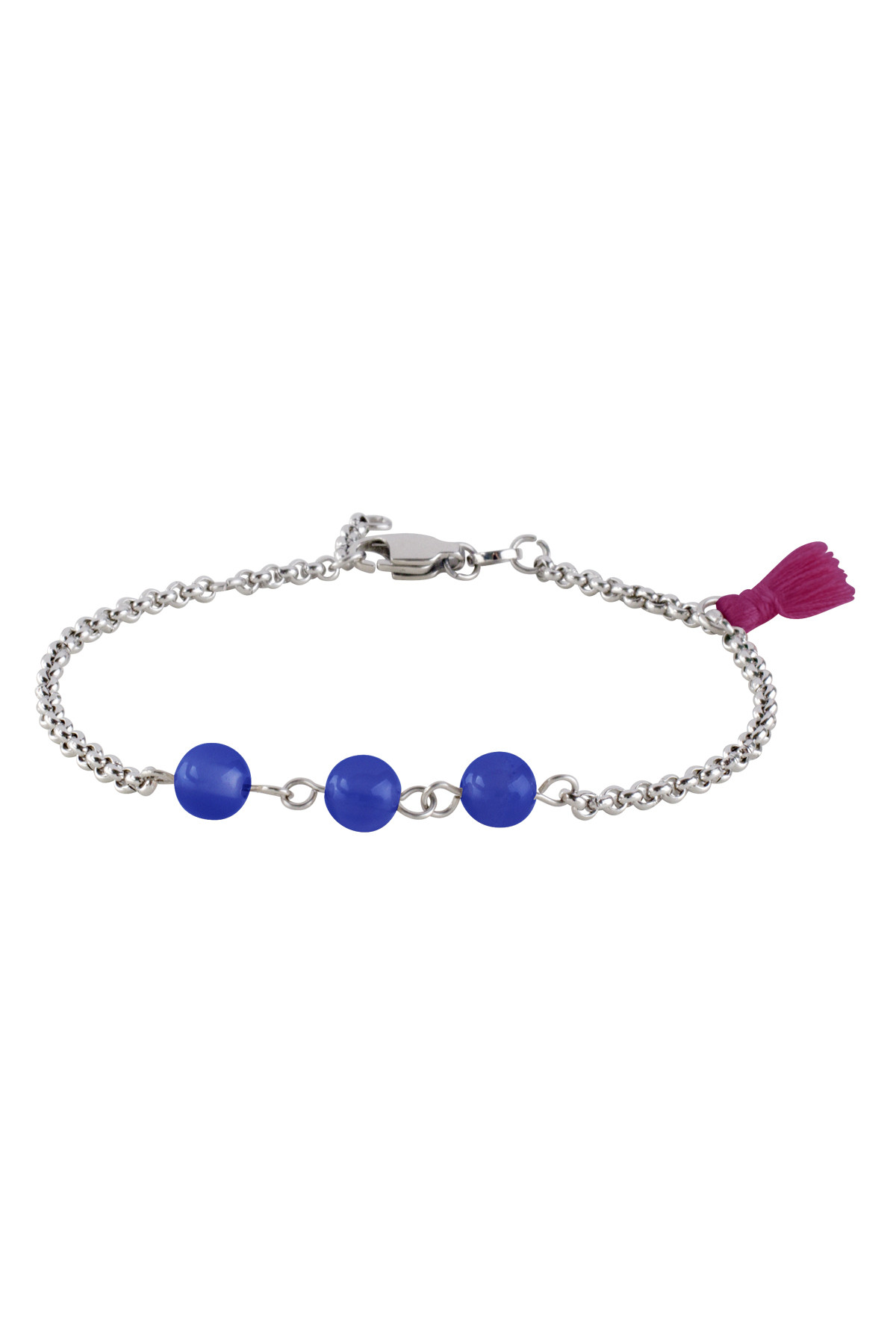 Image of   DYRBERG/KERN CALISTA ARMBÅND 351277 (Silver, Blue, ONESIZE)