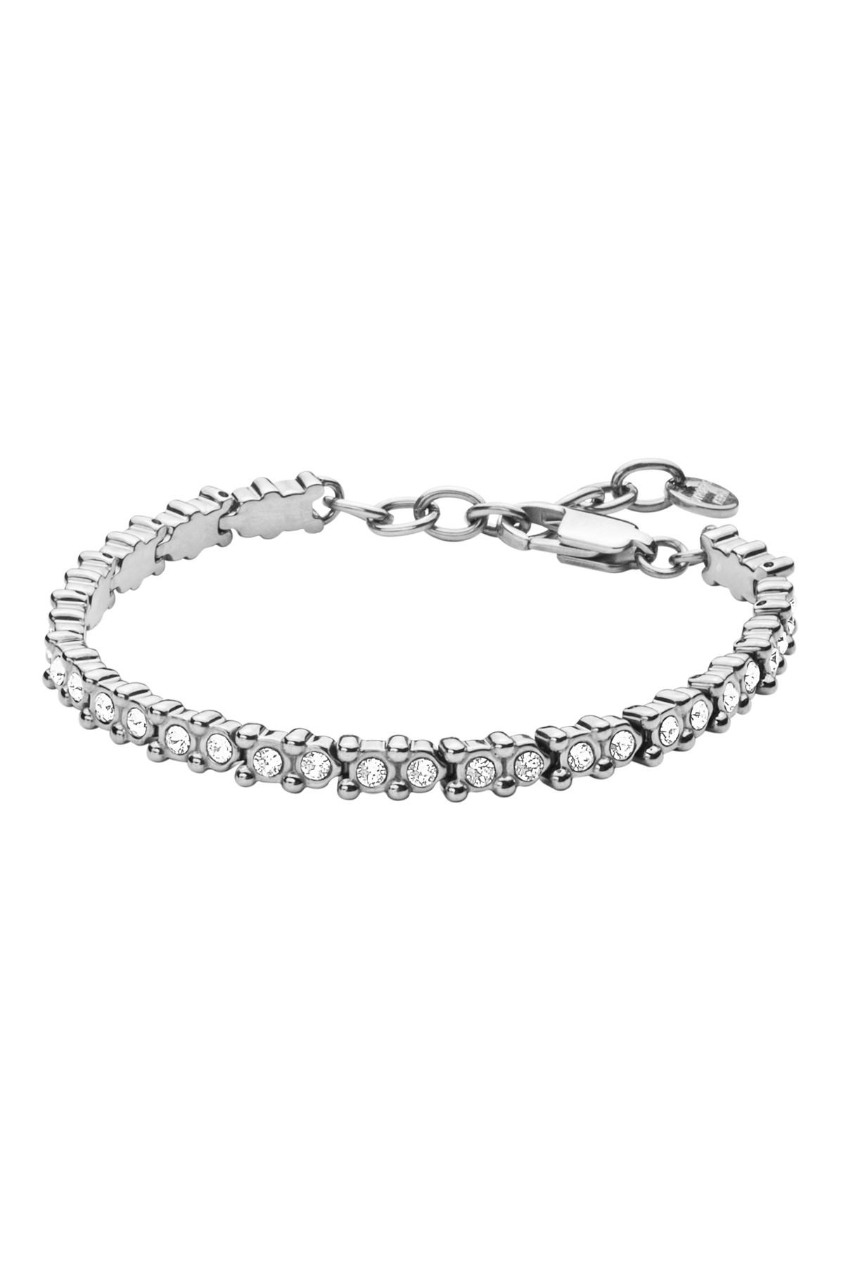 DYRBERG/KERN NIVALIS ARMBÅND 334357 (Silver, Crystal, ONESIZE)