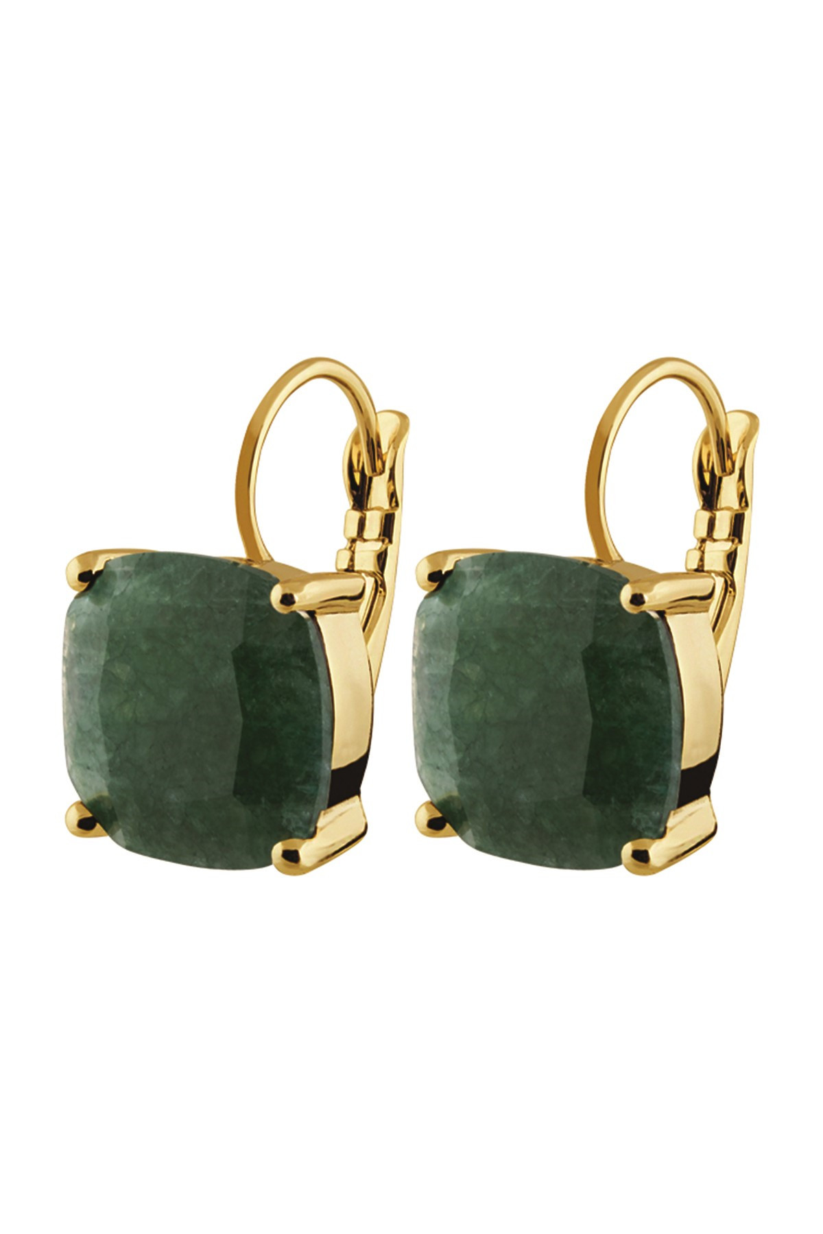 Image of   DYRBERG/KERN AGNETA EARPOST 351661 (Gold, Green, ONESIZE)