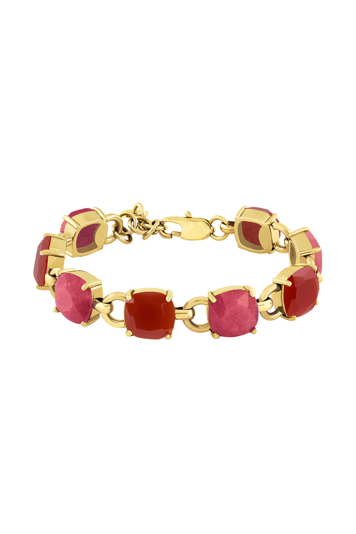 DYRBERG/KERN SINEAD ARMBÅND 351693 (Gold, Red, ONESIZE)