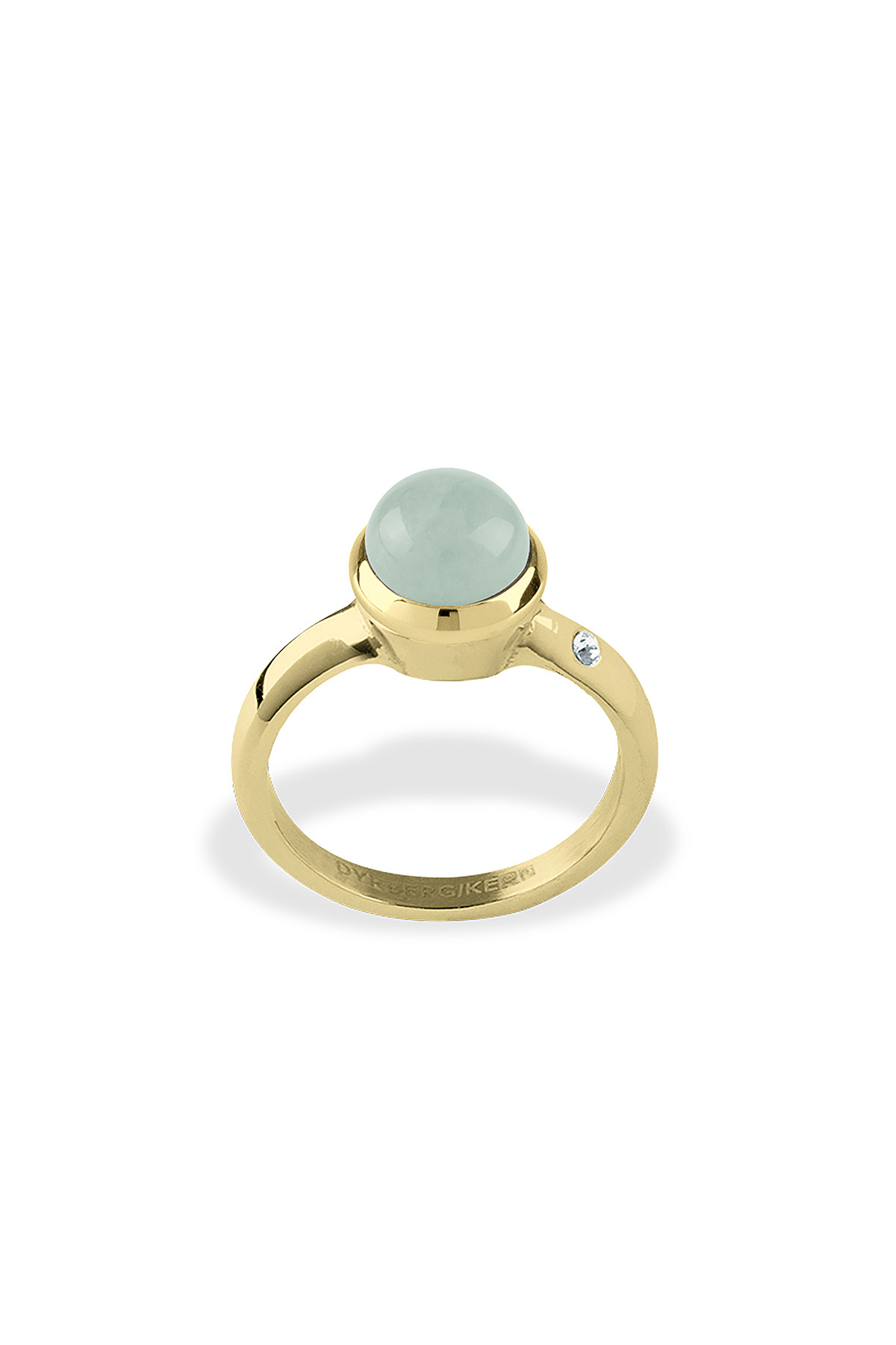 Image of DYRBERG/KERN BUDRING RING 352333 (Gold, Green, IIII/60)