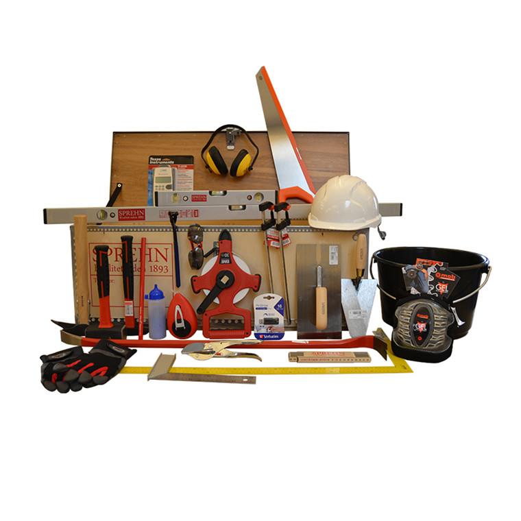 SPREHN lærlingesæt til bygningsstruktør inkl kasse