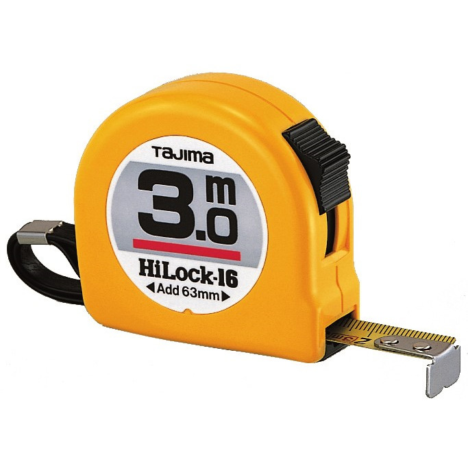 Tajima båndmål 3m Hi Lock 16mm