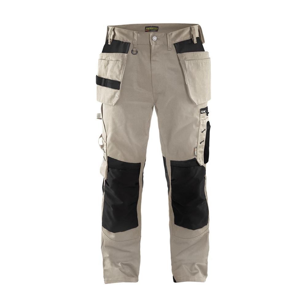 Blåkläder håndværkerbuks sand/sort 1555 - Diverse -> Arbejdstøj og sikkerhedssko -> Arbejdstøj -> Arbejdsbukser|Diverse -> Arbejdstøj og sikkerhedssko -> Arbejdstøj|Diverse -> Arbejdstøj og sikkerhedssko|Mærker -> Blåkläder -> Blålkäder arbejdsbukser|Mærker ->