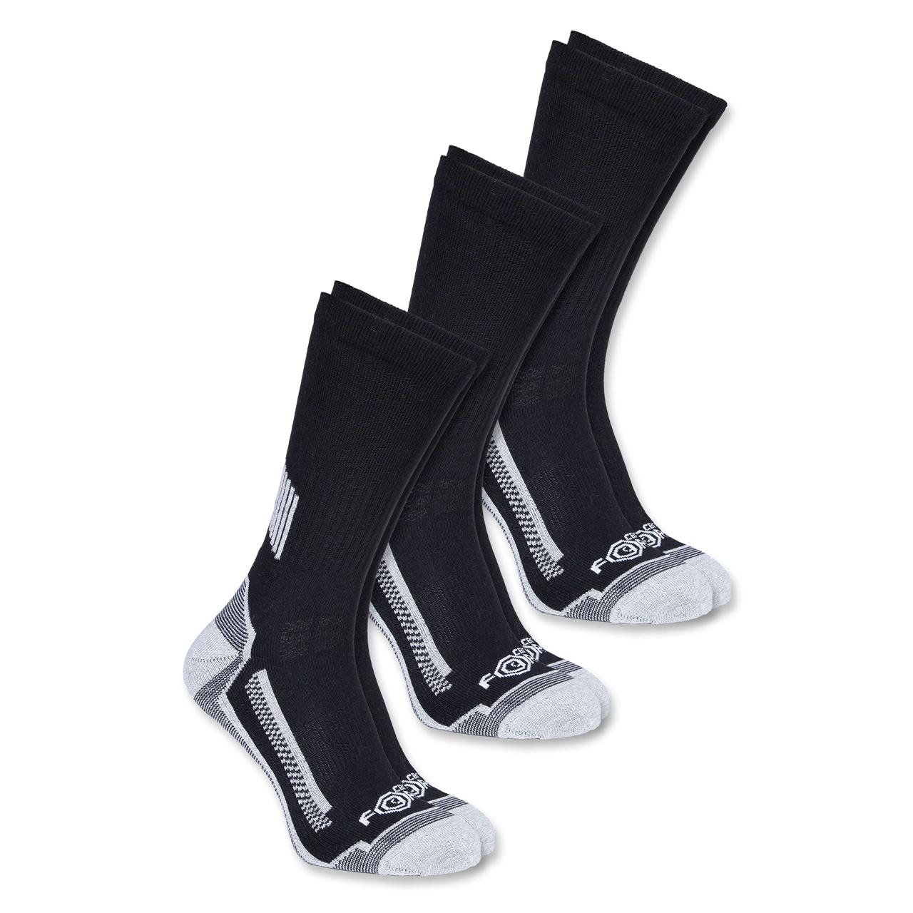 """Carhartt Sok Force Work Crew Sock 3-Par """"Black"""" - Mærker Diverse -> Arbejdstøj og sikkerhedssko Diverse Mærker -> Carhartt -> Sko og støvletter Mærker -> Carhartt"""