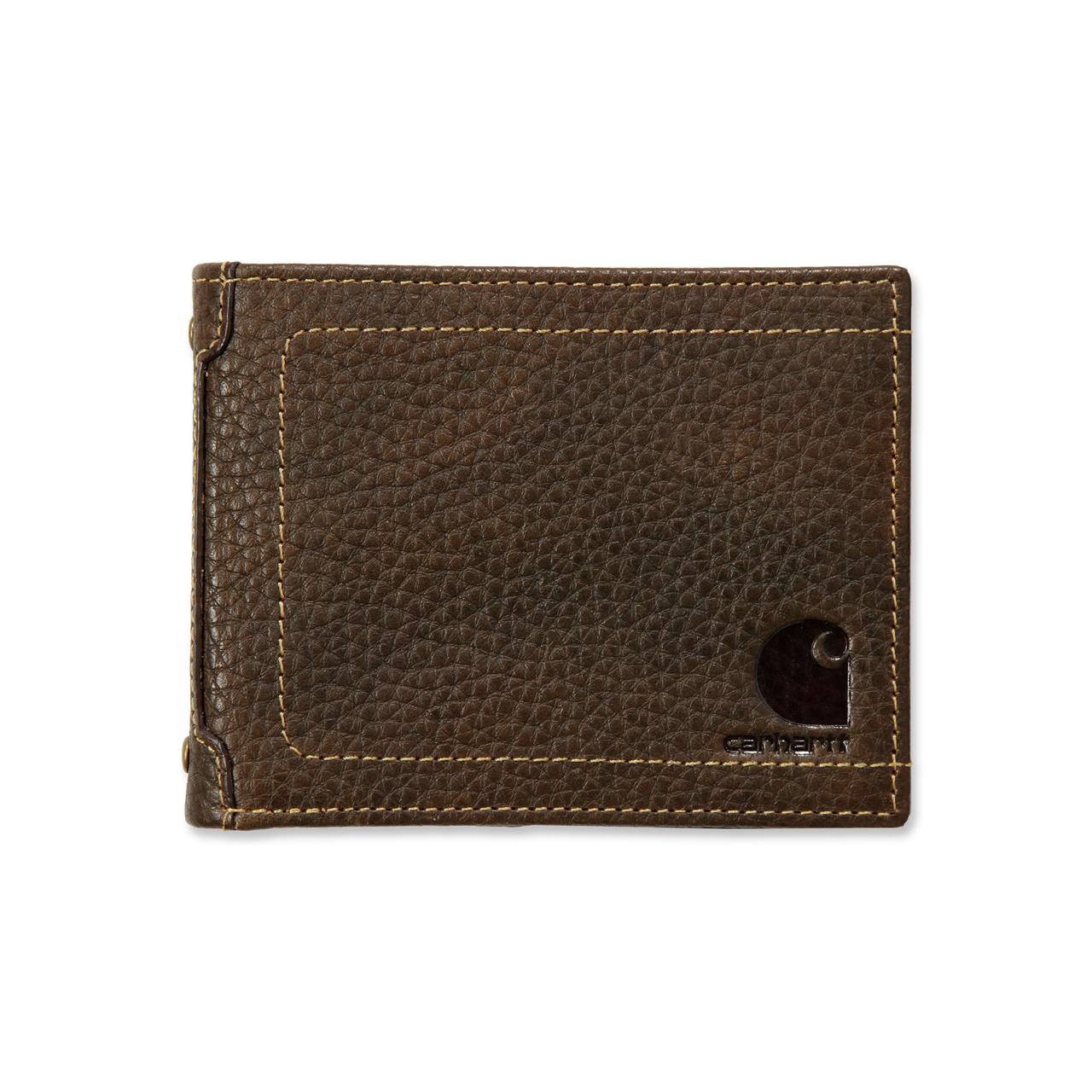 Carhartt Pebble Zip Bifold Wallet Carhartt® Brown - Mærker|Diverse -> Arbejdstøj og sikkerhedssko|Diverse|Mærker -> Carhartt -> Accessories|Mærker -> Carhartt