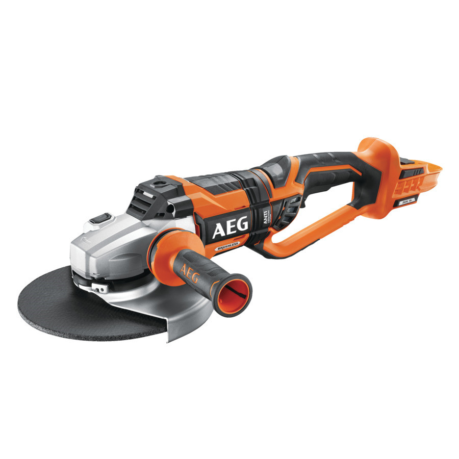 Køb AEG akku vinkelsliber 230mm 18V 0-vers BEWS 18-230BL uden batteri og lader