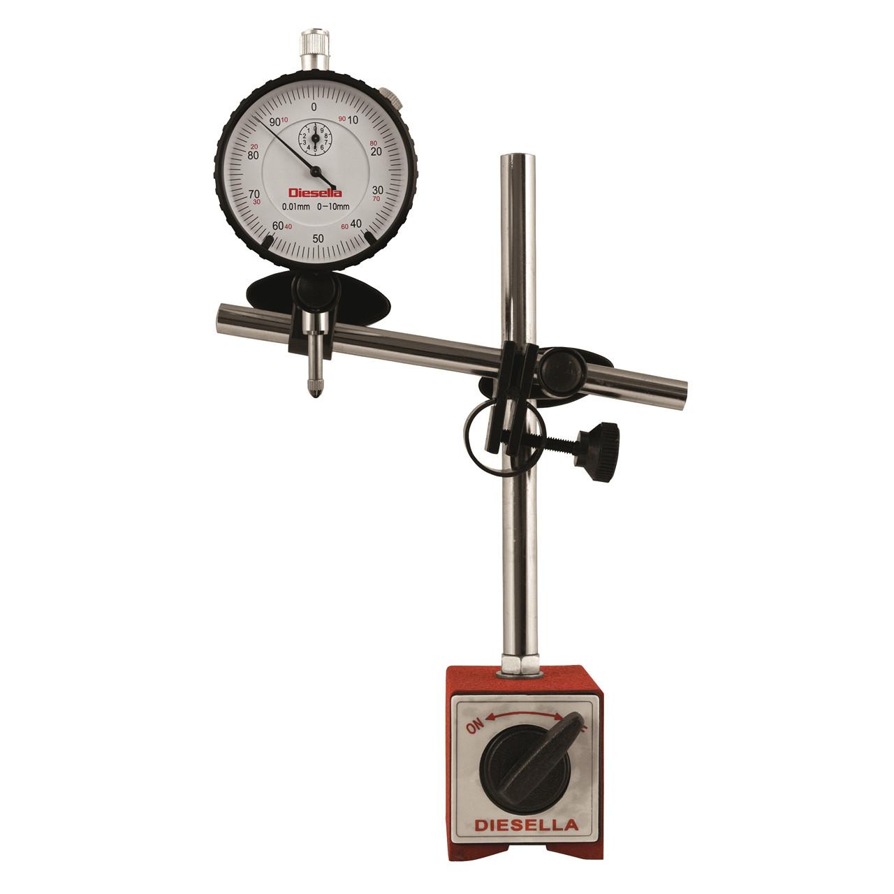 Køb Diesella Måleursstander inkl. måleur 0-10mm med øje på bagside (10380800+10331545 i sampakning)