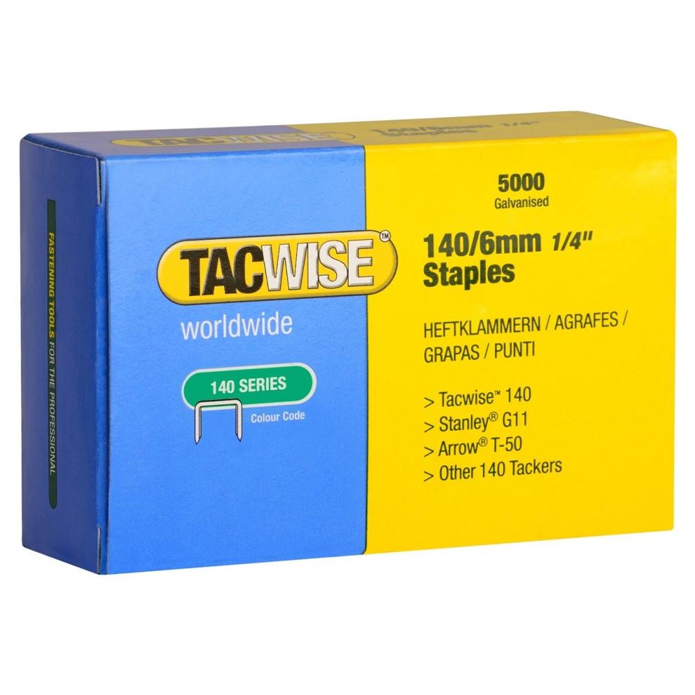 Tacwise klammer 140/6mm - 5000 stk - Værktøj -> Håndværktøj -> Hæftepistoler -> Klammer og stifter|Værktøj -> Håndværktøj -> Hæftepistoler|Mærker -> Tacwise