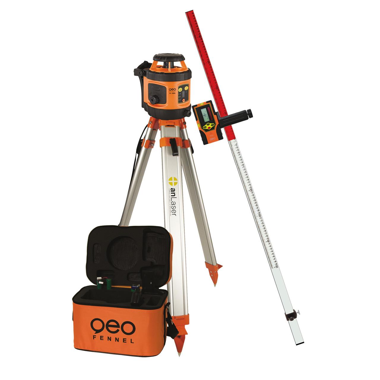 geoFENNEL Rotationslaser FL 190 A komplet - Værktøj -> Laser og måleinstrumenter -> Laser -> Cirkellaser|Værktøj -> Laser og måleinstrumenter -> Laser -> Rotationslaser|Værktøj -> Laser og måleinstrumenter -> Laser|Værktøj -> Laser og måleinstrumenter|Mærker -> geo-FEN