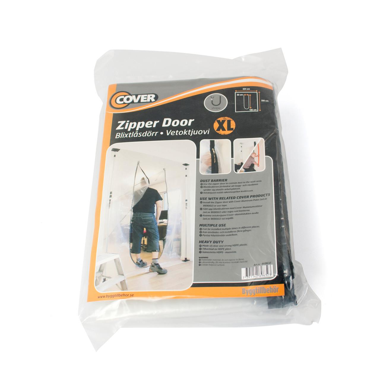 Cover dør med lynlås, XL-åbning - Klima -> Støvafdækning -> Støvdøre|Klima -> Støvafdækning|Klima|Mærker -> Cover