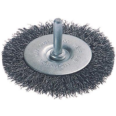 WOLFCRAFT Stålbørsteskive, 6 mm skaft 20x100mm - Værktøj -> El-værktøj -> Tilbehør til el-værktøj -> Sandpapir/poler -> Stålbørste|Værktøj -> El-værktøj -> Tilbehør til el-værktøj|Mærker -> Wolfcraft
