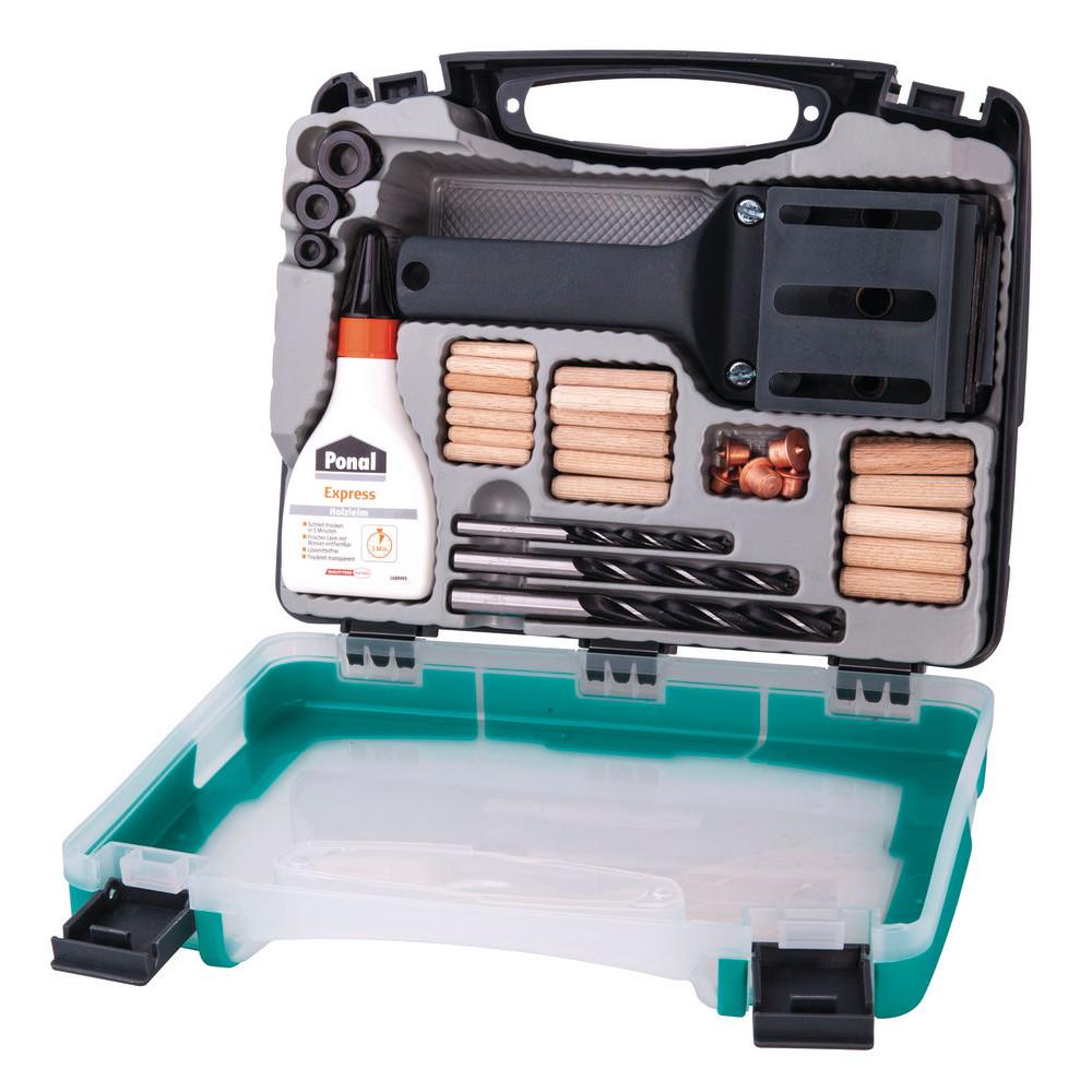 WOLFCRAFT Trædyvelsæt i kuffert 4645 - Værktøj -> El-værktøj -> Tilbehør til el-værktøj -> Diverse -> Dyvelstyr|Mærker -> Wolfcraft