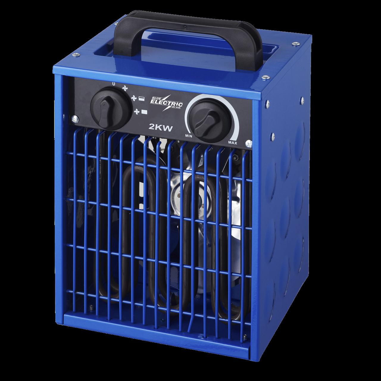 Køb BLUE ELECTRIC varmeblæser 2kW 230V