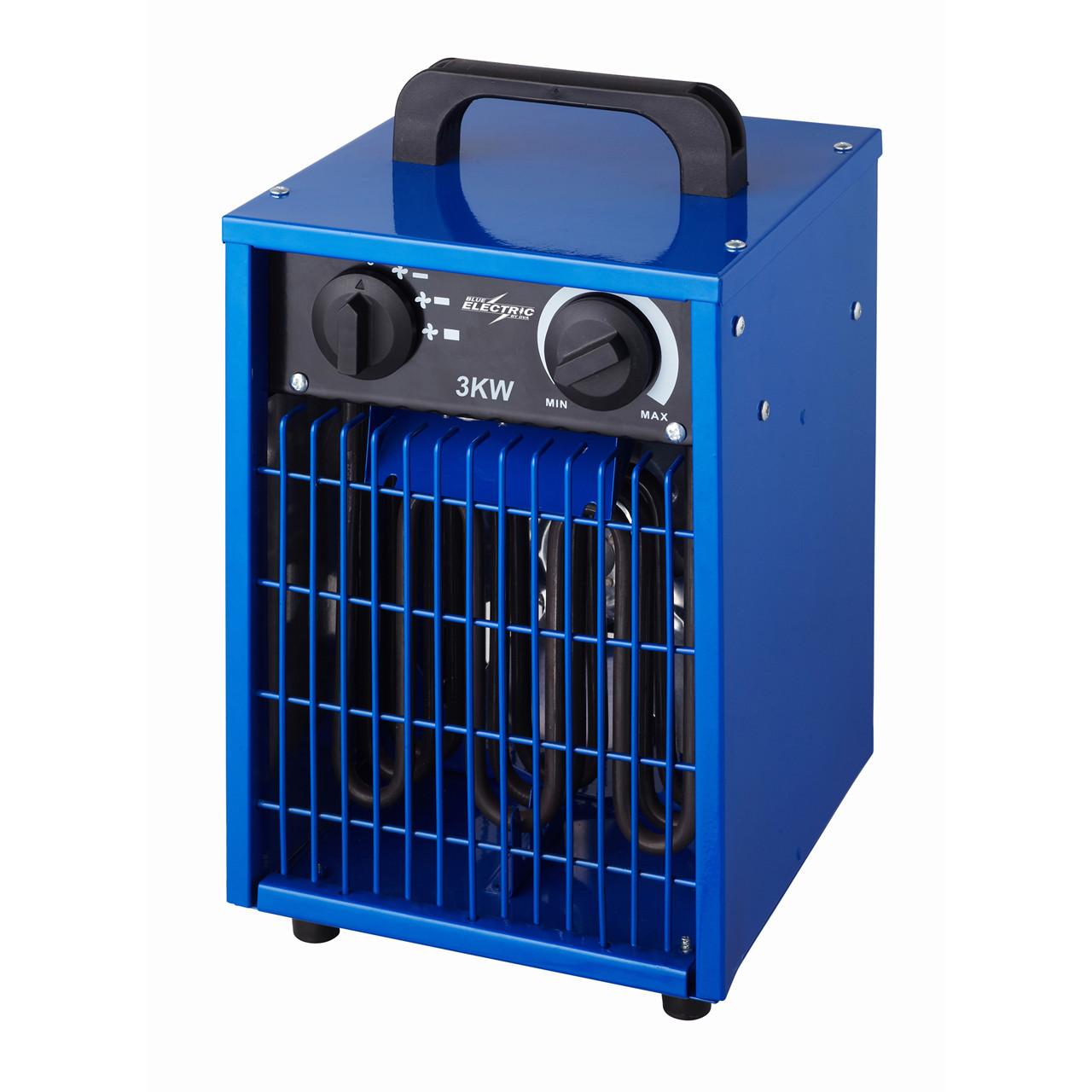 Køb BLUE ELECTRIC varmeblæser 3kW 230V