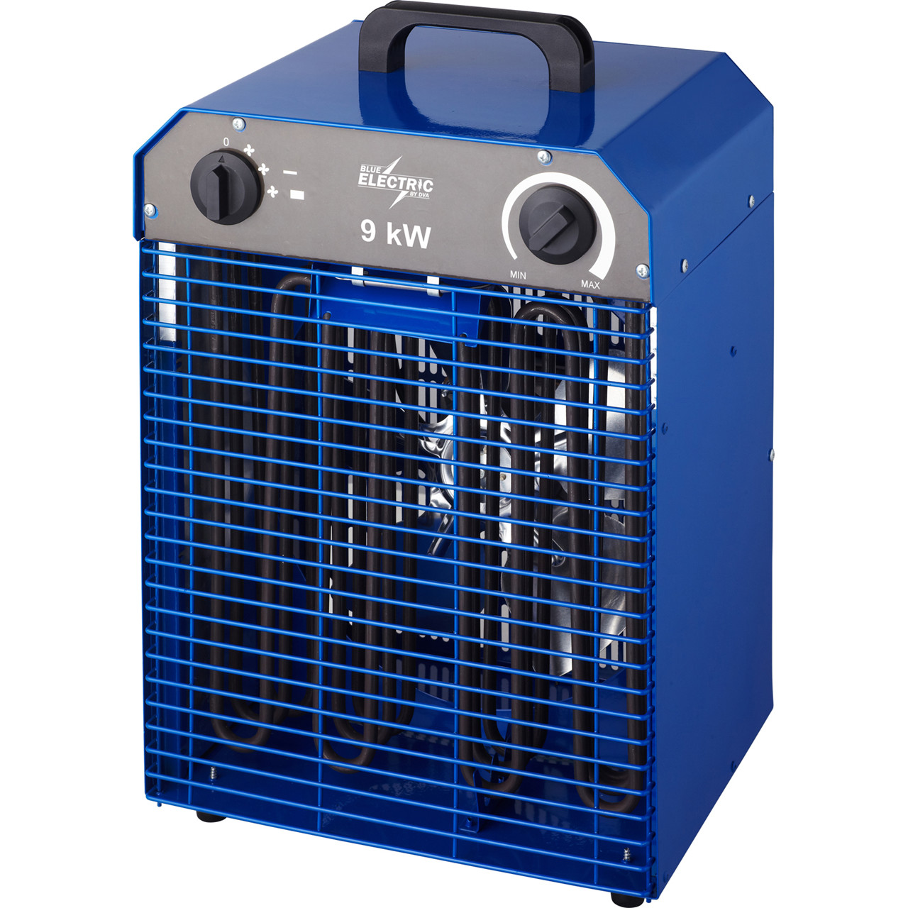 Køb BLUE ELECTRIC varmeblæser 9kW med overophednings sikring 400V