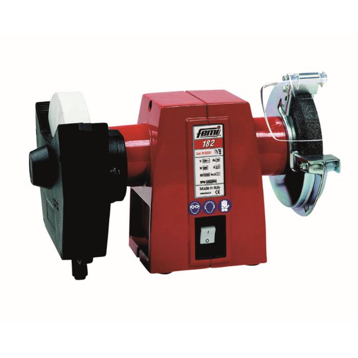 FEMI Bænk -og vådsliber kombi 150mm sten og 180x30x20 mm hvid sandsten 500w - Værktøj -> El-værktøj -> 230V maskiner -> Stationære maskiner Værktøj -> El-værktøj -> 230V maskiner -> Diverse Værktøj -> El-værktøj -> 230V maskiner Værktøj -> El-værktøj Mærker -> FEMI maskiner