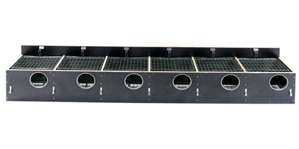 HG Redekasse birkefiner 206 (130 mm hul) 6 rums til indsats, uden skodskinner