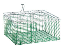 "HG Wire insert Plastic coated 11""x12"" bottom bend ZinkAlu lid 1""x1""x2,45mm"